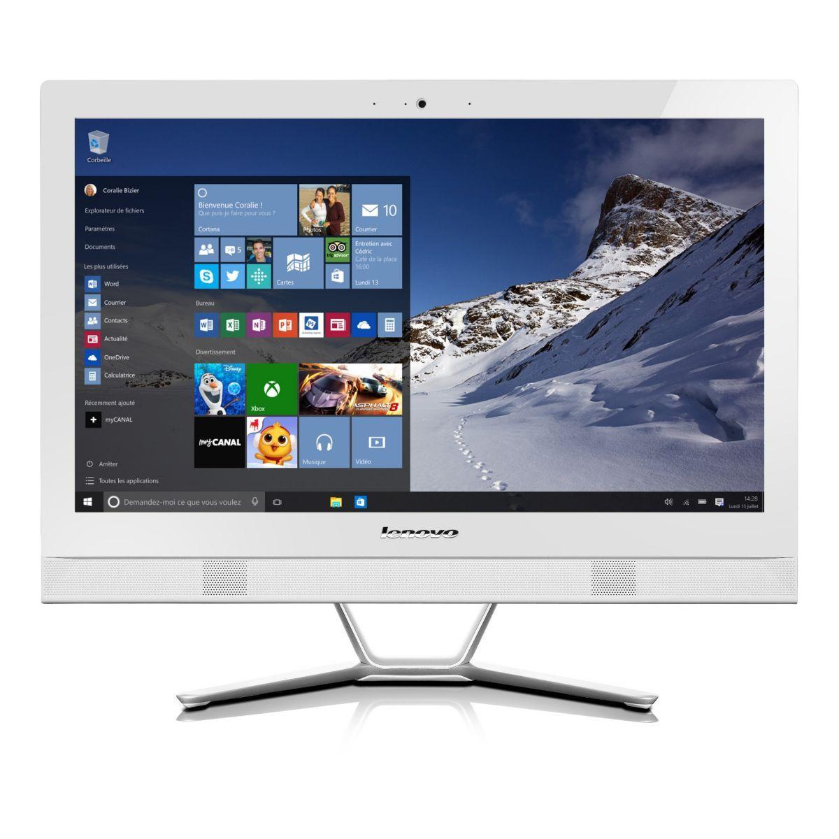 PC Ordinateur tout en un LENOVO C50-30-MFR Blanc