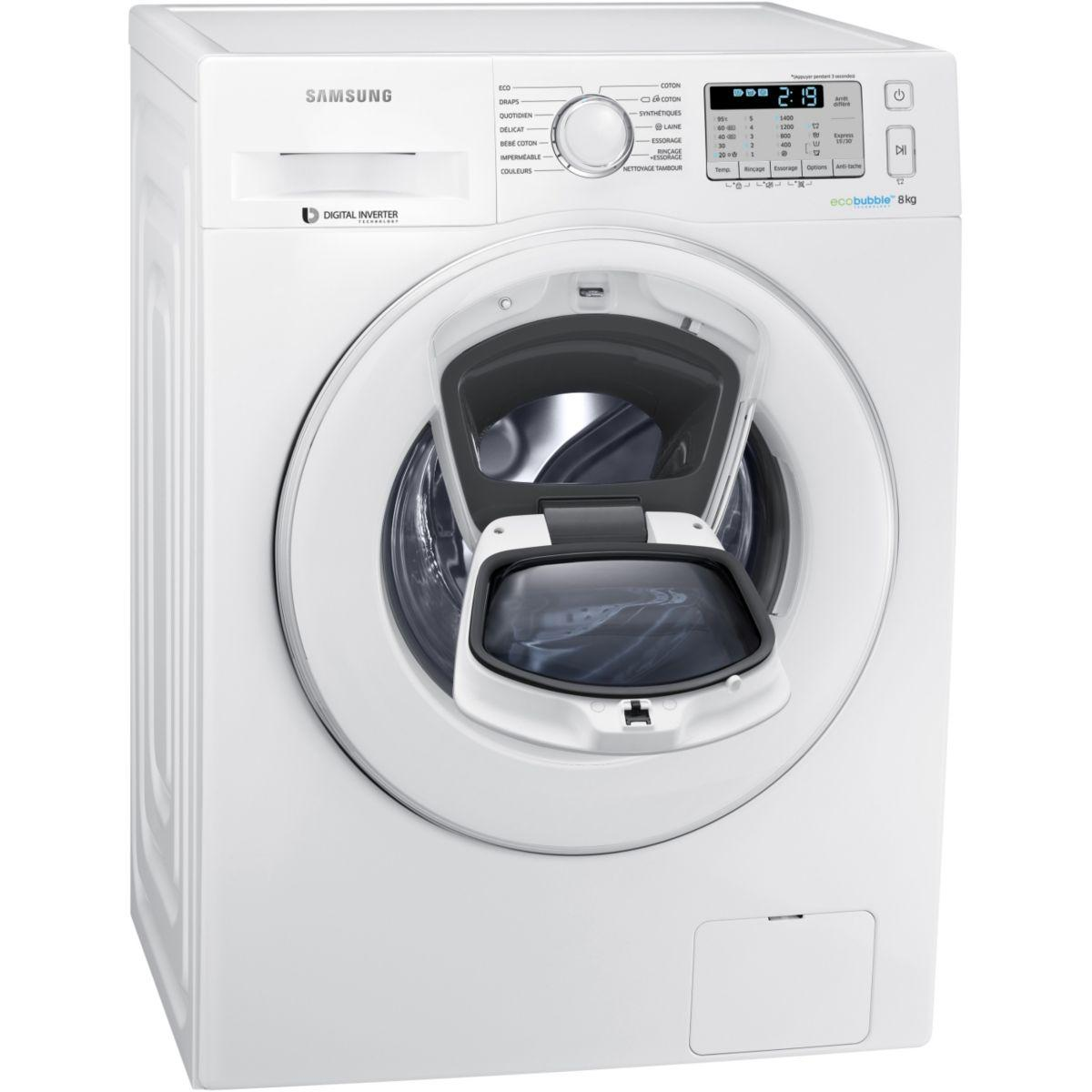 lectrom nager lave linge frontal samsung add wash ww80k5413ww. Black Bedroom Furniture Sets. Home Design Ideas