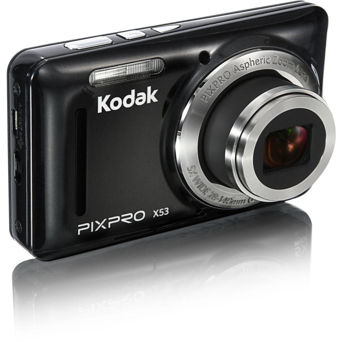 Appareil photo compact KODAK Pack X53 noir + Etui