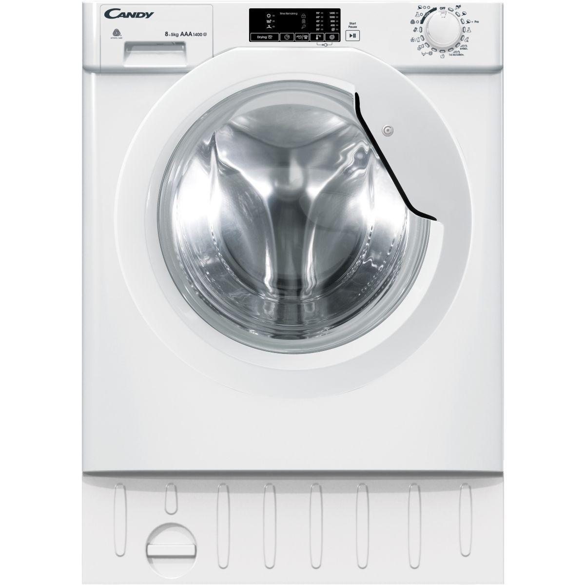 Lave linge séchant hublot encastrable CANDY CBWD 8514D-S