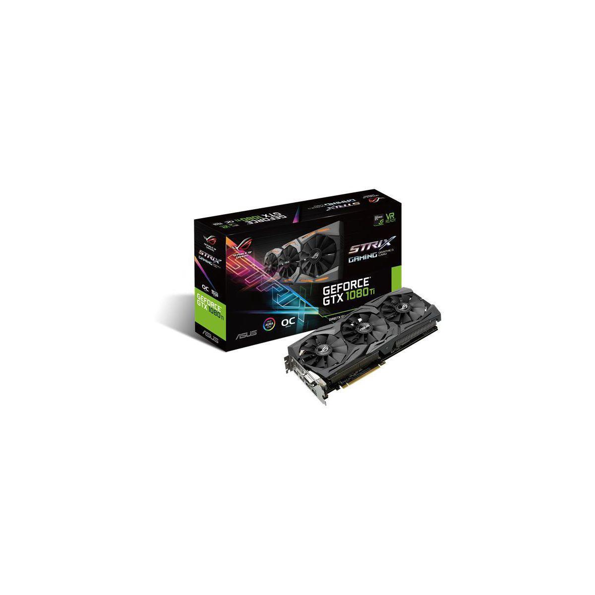 Carte graphique Nvidia ASUS GeForce GTX 1080 Ti ROG STRIX O 11 Go