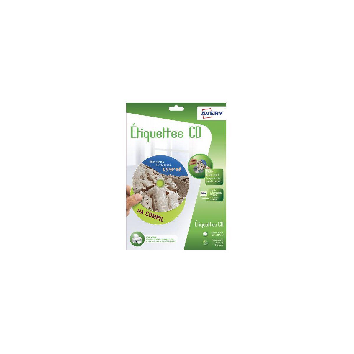Etiquette AVERY 30 Etiquettes CD (photo)