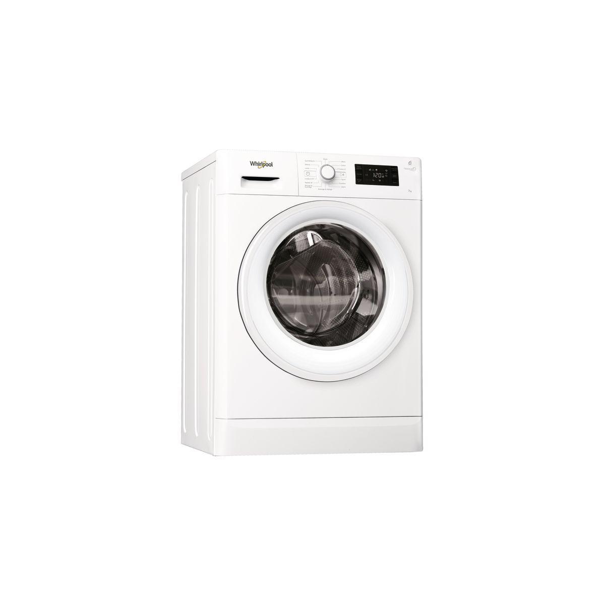 Lave linge compact WHIRLPOOL Freshcare FWSG71253WFR