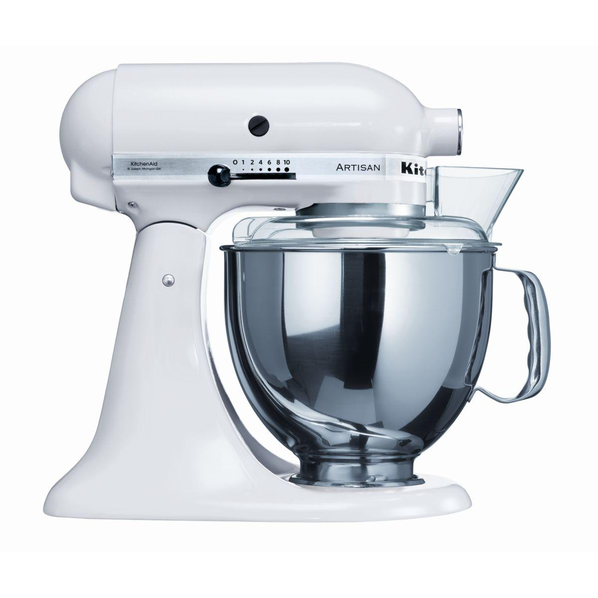 Robot sur socle Artisan® KitchenAid 5KSM150PS EWH Blanc