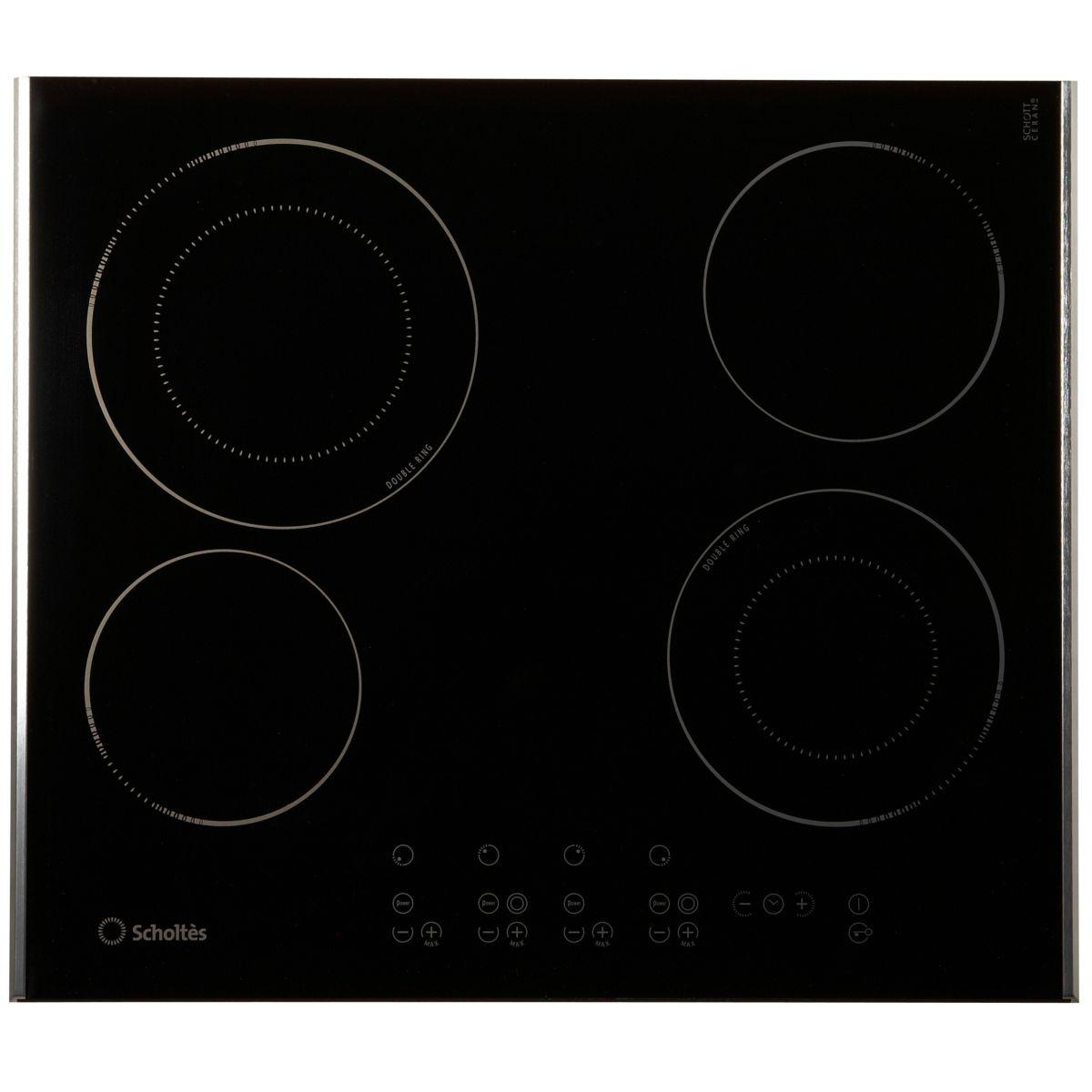 Table de cuisson vitrocéramique SCHOLTES TRP 642 DL
