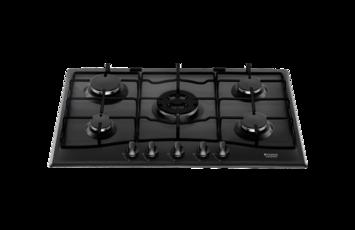 Table de cuisson gaz HOTPOINT PC 750 T BK/HA