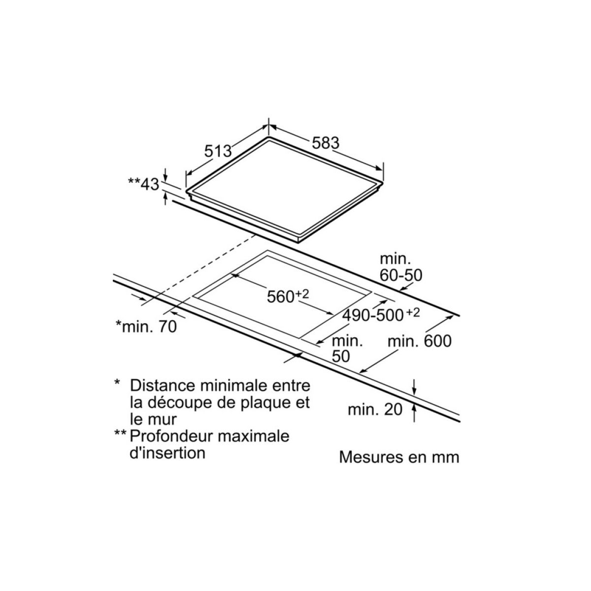 Table vitrocéramique BOSCH PKF645B17E