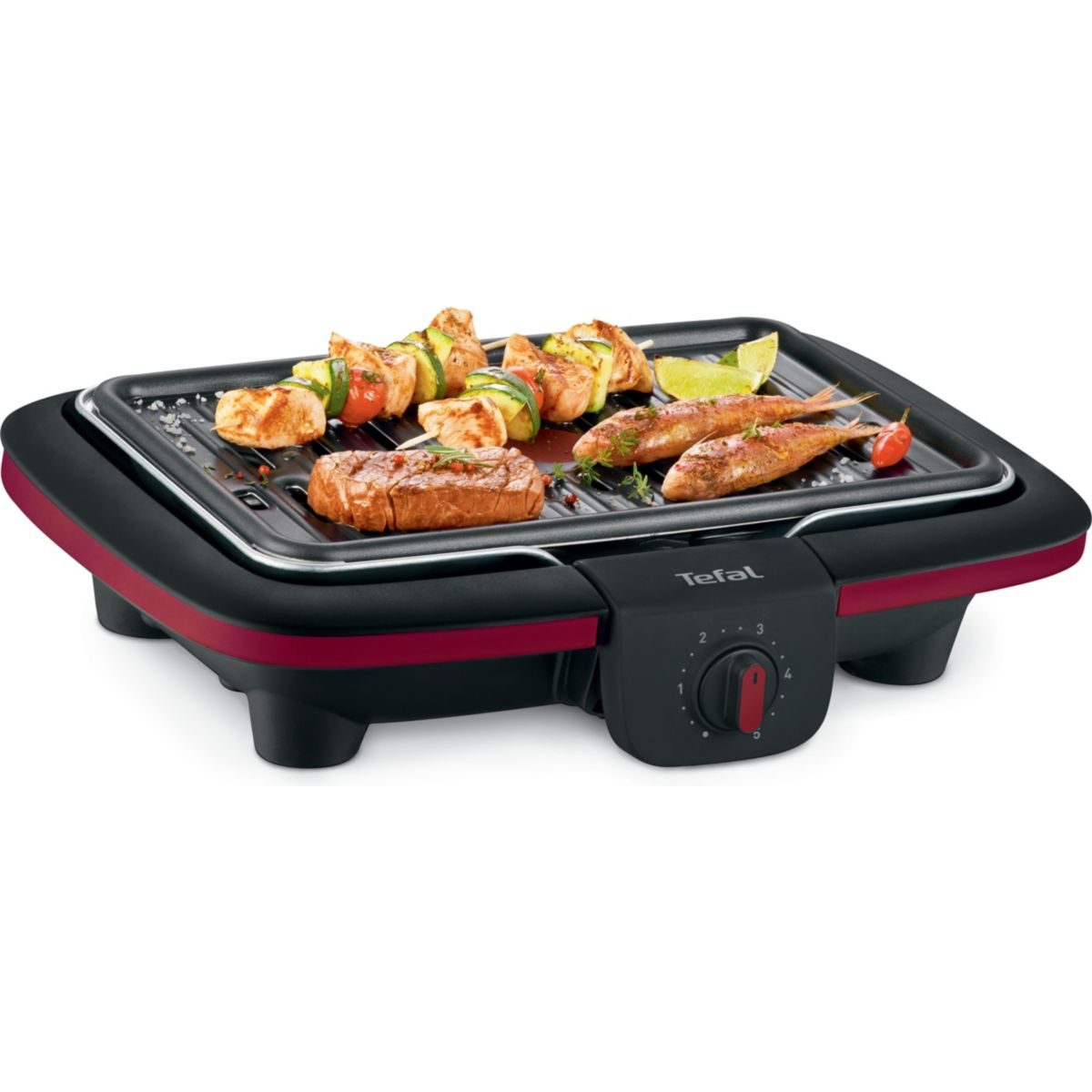 Barbecue électrique TEFAL CB901012 EASY GRILL CONTACT (photo)