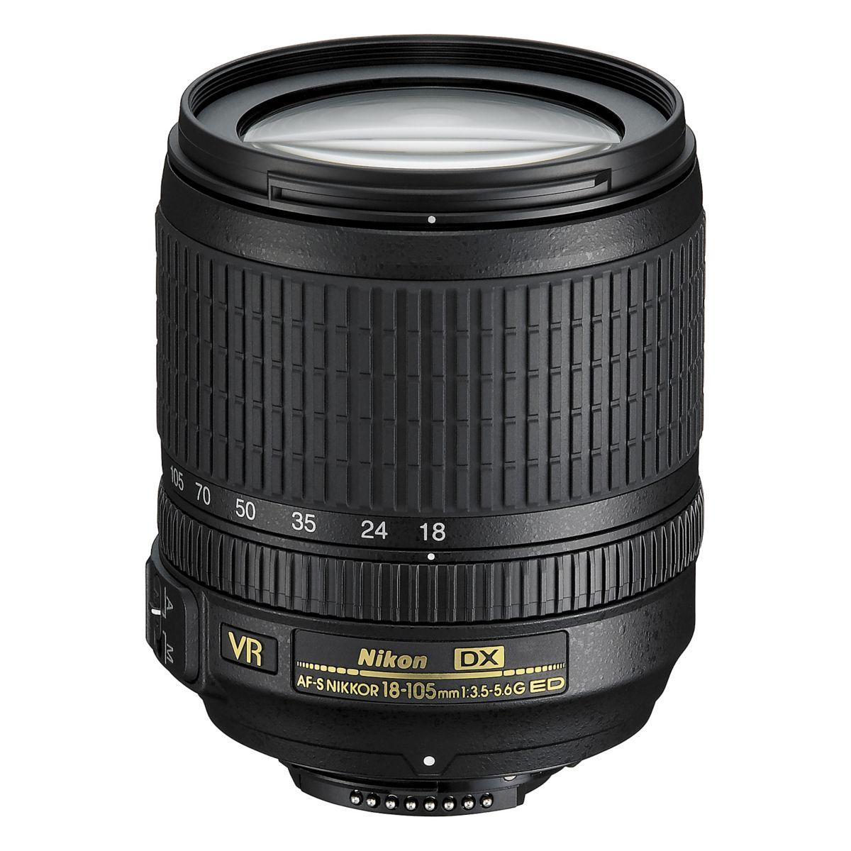 Objectif pour Reflex NIKON AF-S DX 18-105mm f/3.5-5.6G ED VR N...