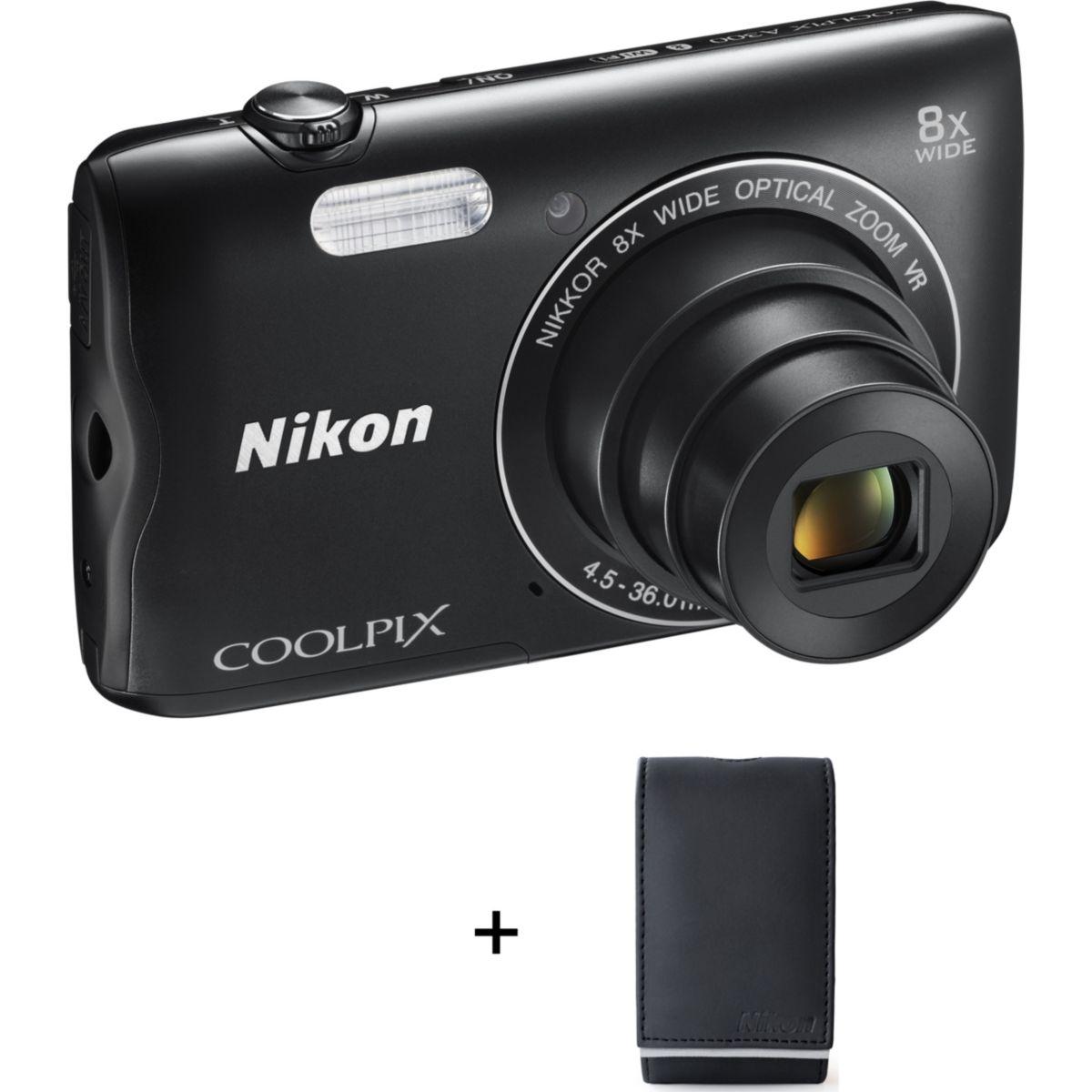 Appareil photo compact NIKON A300 Noir + Etui