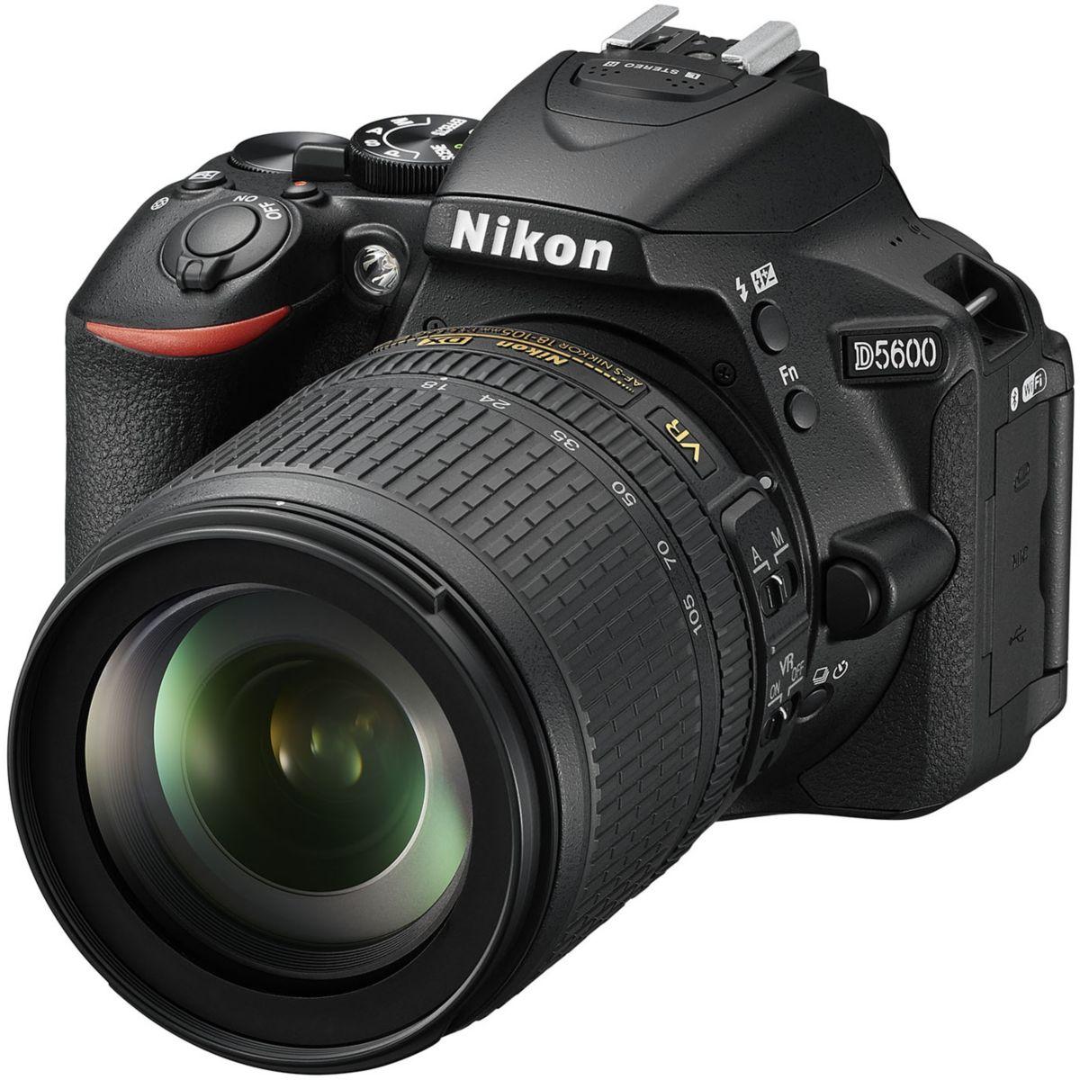 Appareil photo Reflex NIKON D5600 + 18-105 VR + 16Go + sac