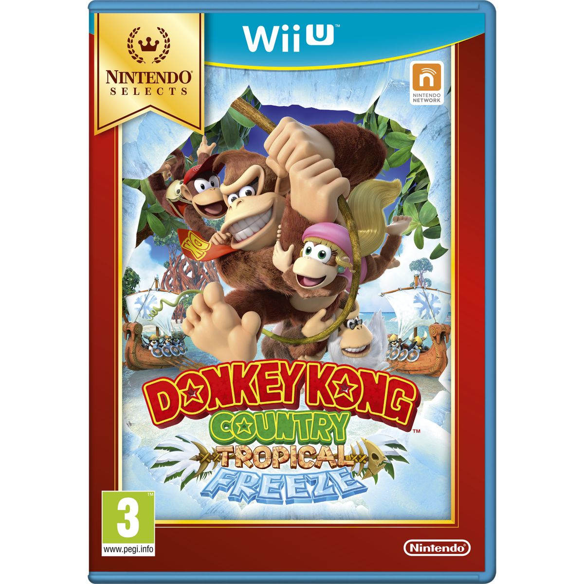 Jeu Wii U NINTENDO Donkey Kong Country Tropical Freeze Selects
