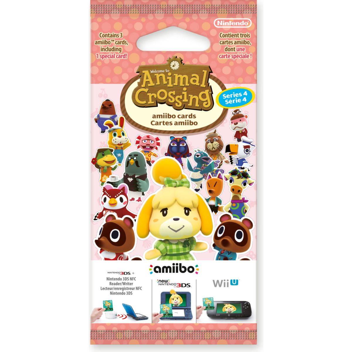 Pack cartes Amiibo NINTENDO 3 cartes Animal Crossing HDD Série 4 (photo)