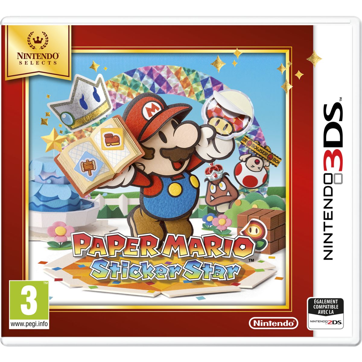 Jeu 3DS NINTENDO Paper Mario Sticker Star Selects
