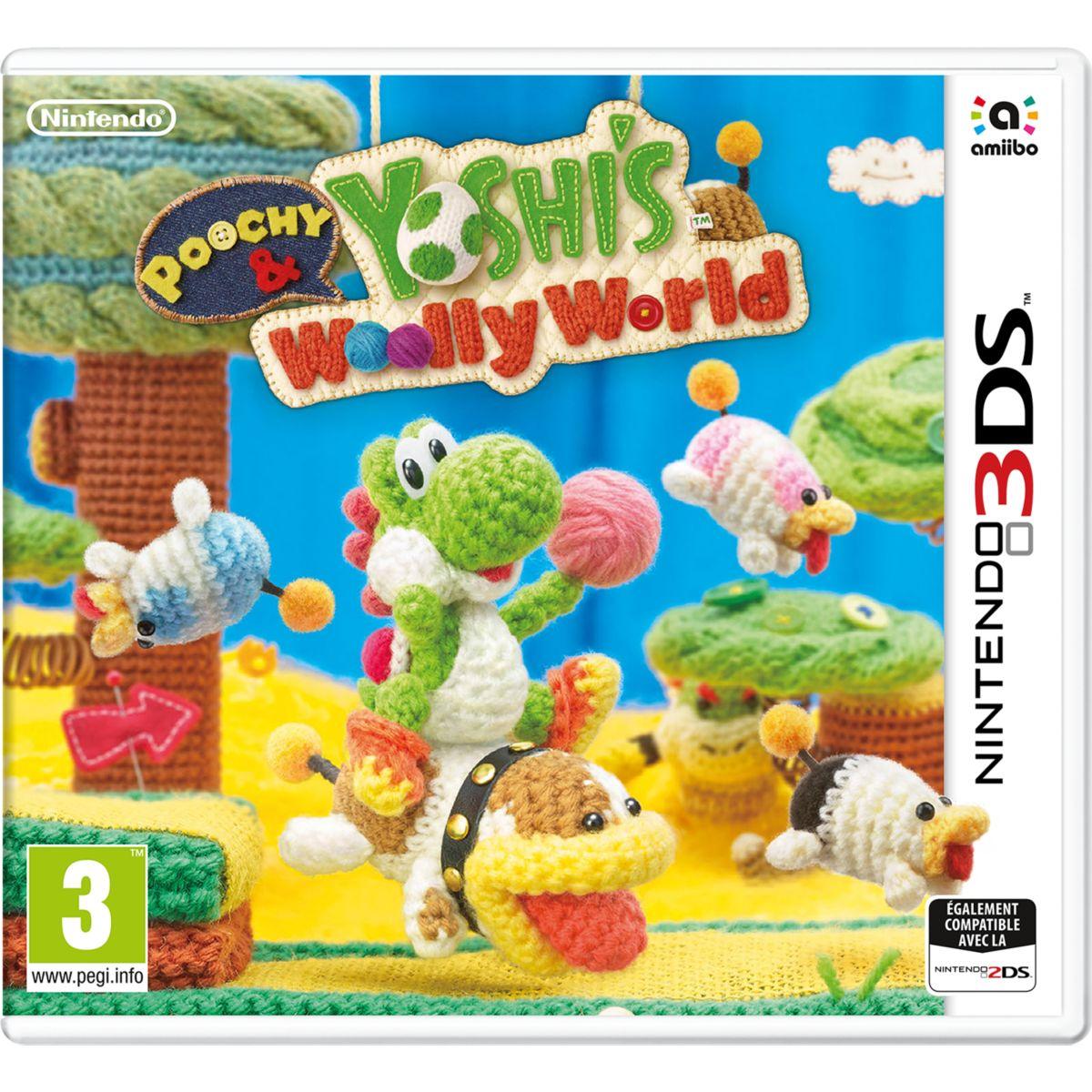 Jeu 3DS NINTENDO Poochy & Yoshi's Woolly