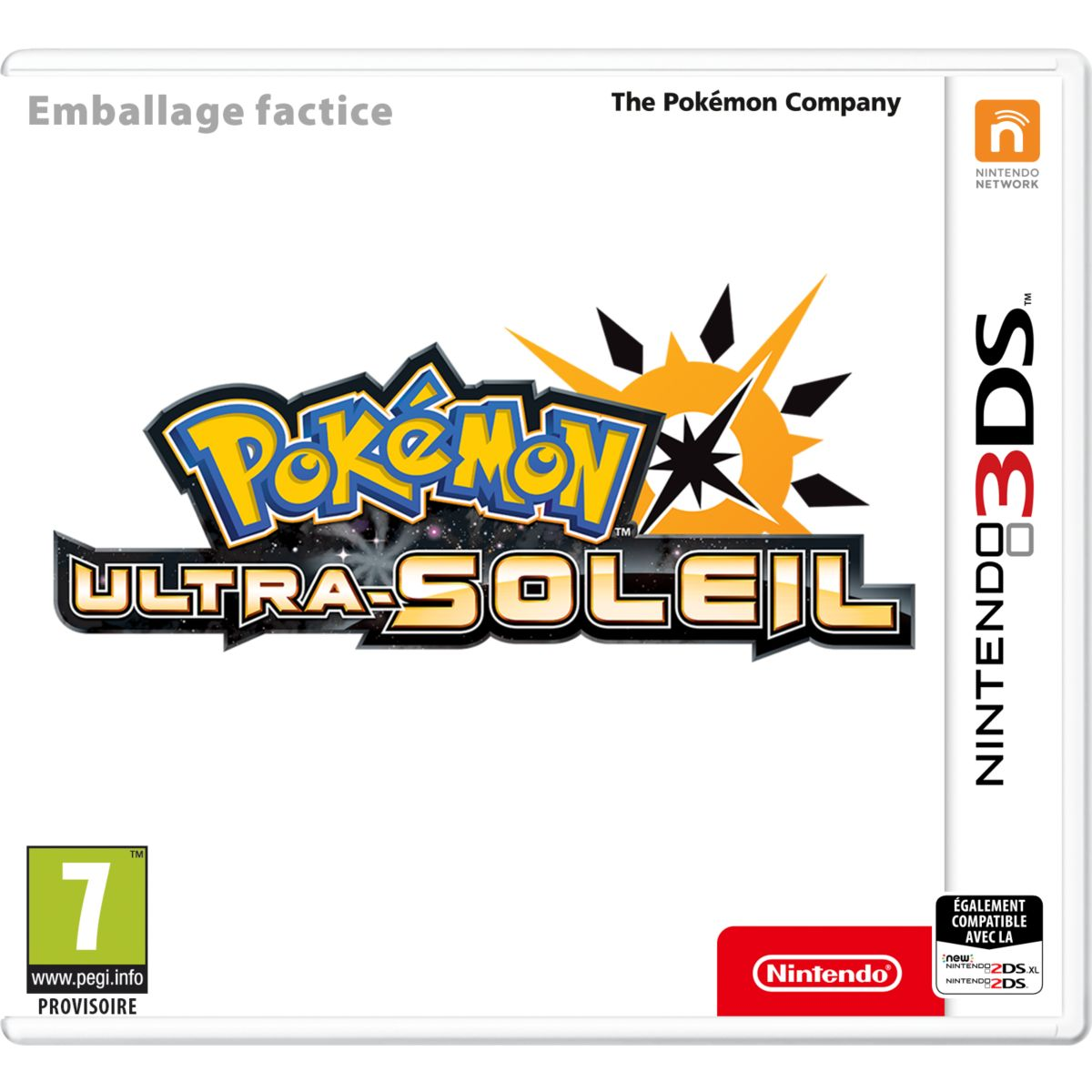 Jeu 3DS NINTENDO Pokémon Ultra Soleil (photo)