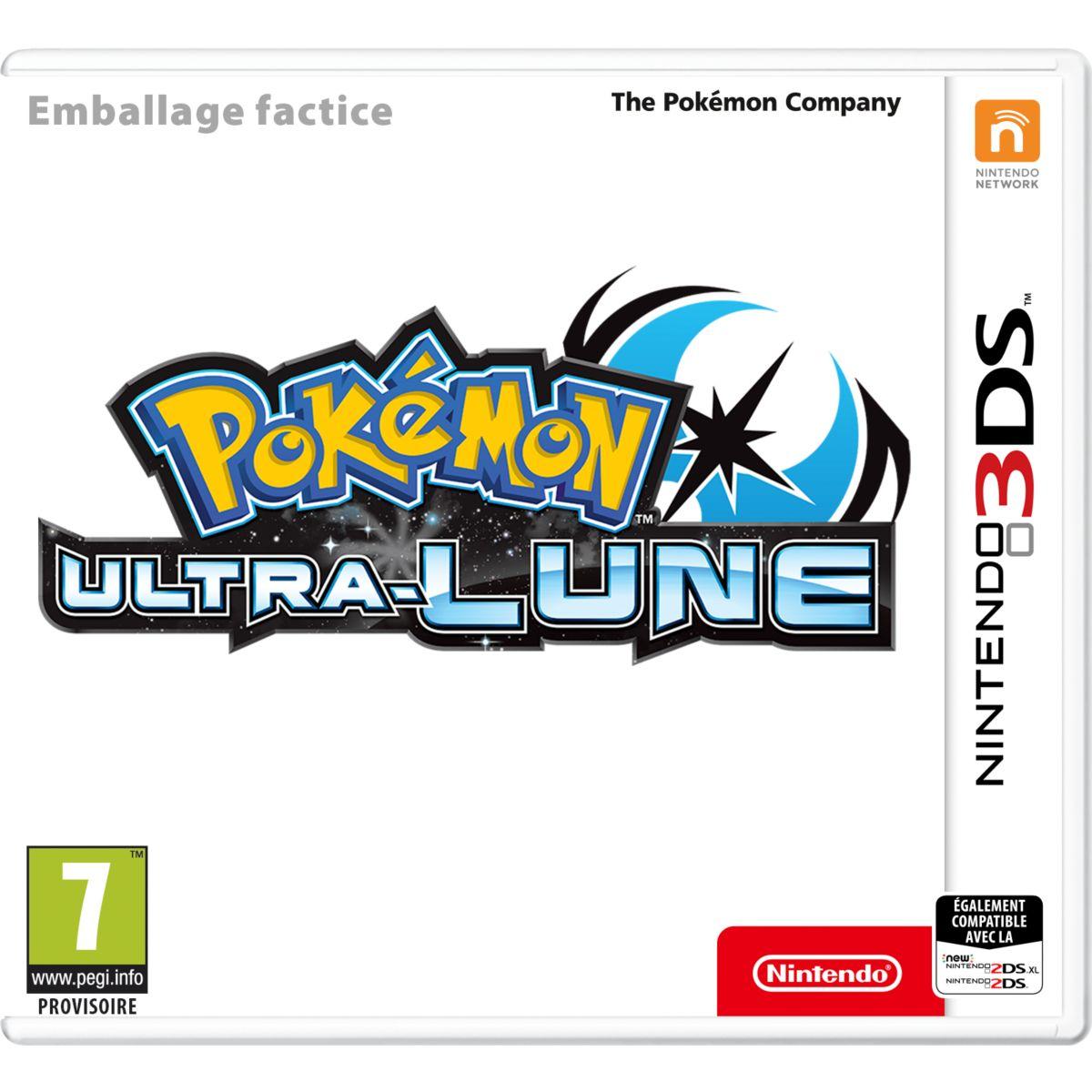 Jeu 3DS NINTENDO Pokémon Ultra Lune Ed c (photo)