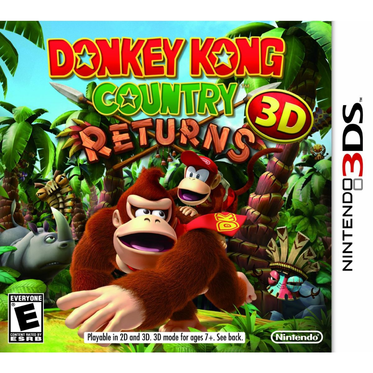Jeu 3DS NINTENDO Donkey Kong Country Returns