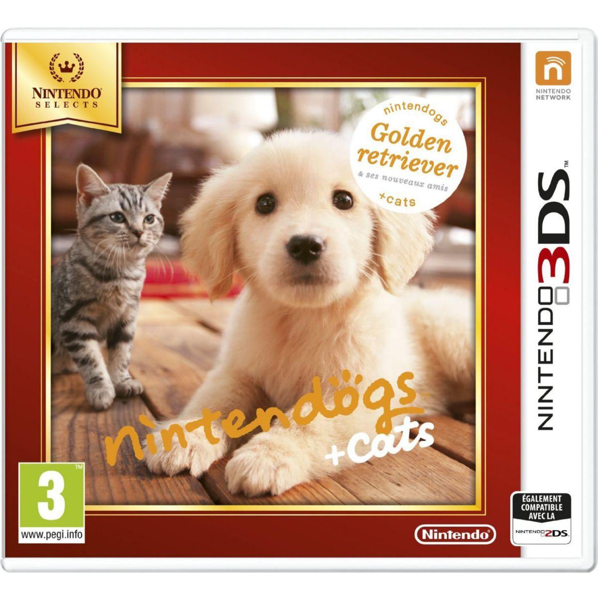Jeu 3DS NINTENDO Nintendogs + Cats Golden Retriever & Co. (photo)