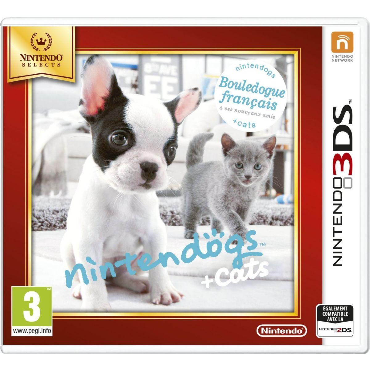 Jeu 3DS NINTENDO Nintendogs + Cats Bouledogue Selects (photo)
