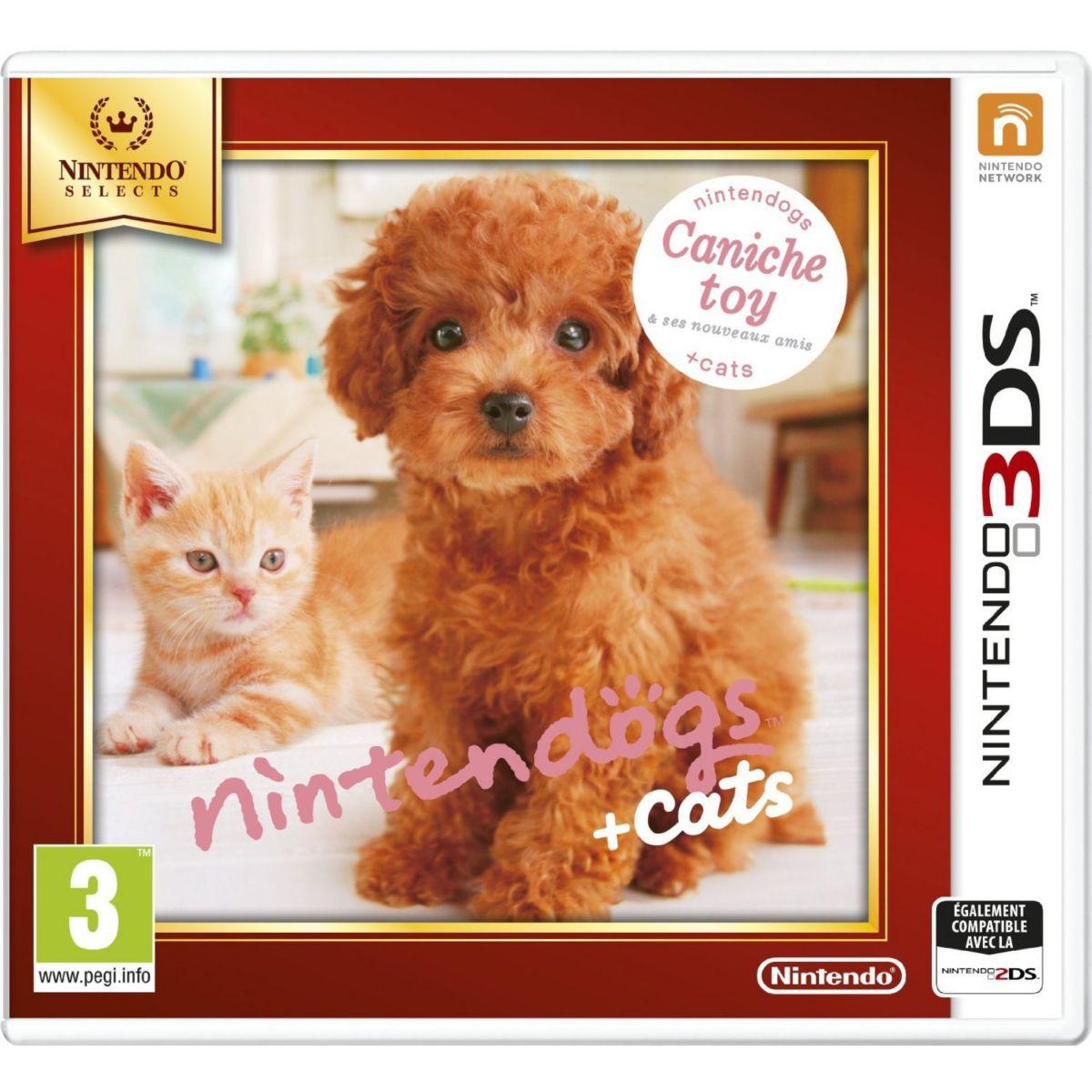 Jeu 3DS NINTENDO Nintendogs + Cats Caniche (photo)