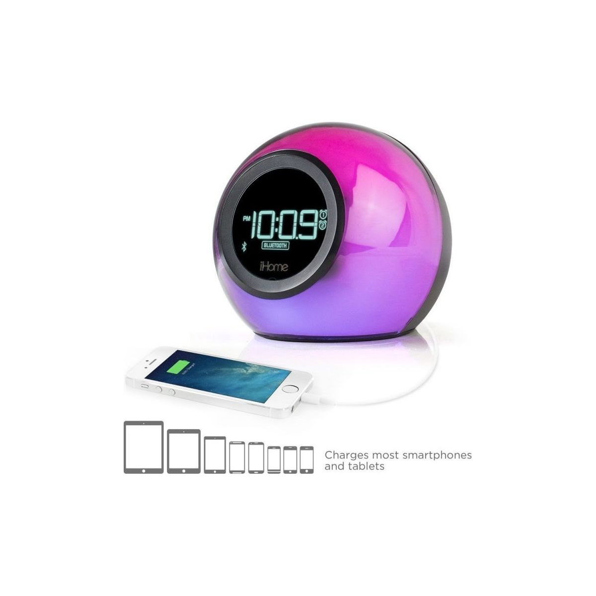 Radio-réveil IHOME iBT29 Bluetooth Color Changing