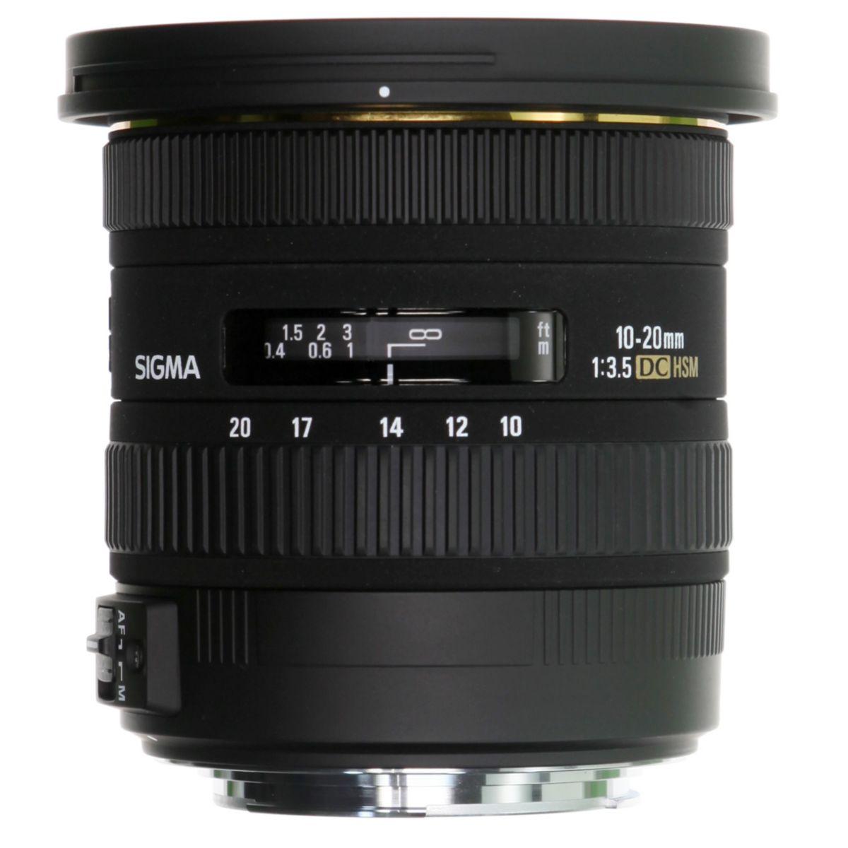 Objectif SIGMA 10-20mm f/3.5 EX DC HSM Sony