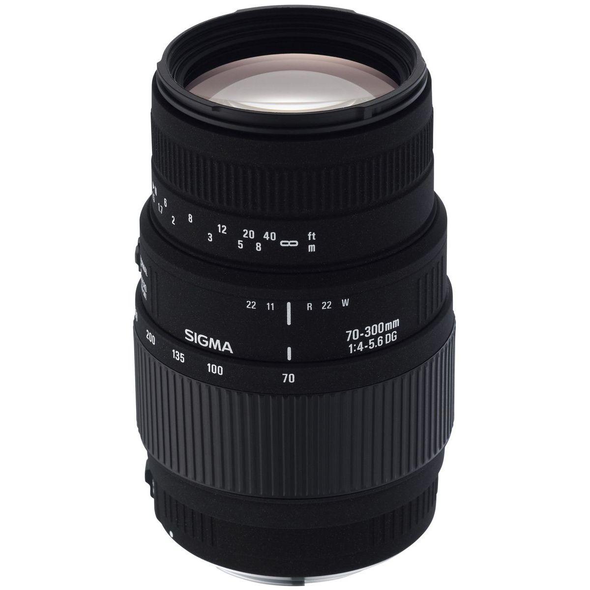 Objectif pour Reflex Plein Format SIGMA 70-300mm f/4-5.6 Macro DG APO Canon