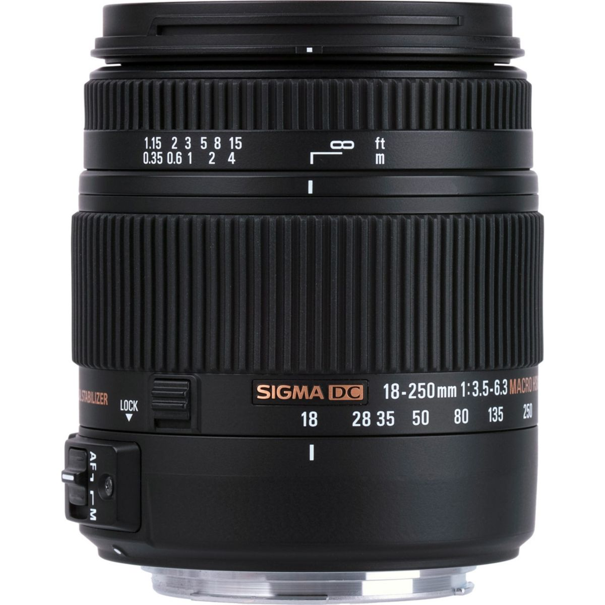 Objectif SIGMA 18-250mm F3,5-6,3 DC MACRO OS HSM (pour reflex Nikon)