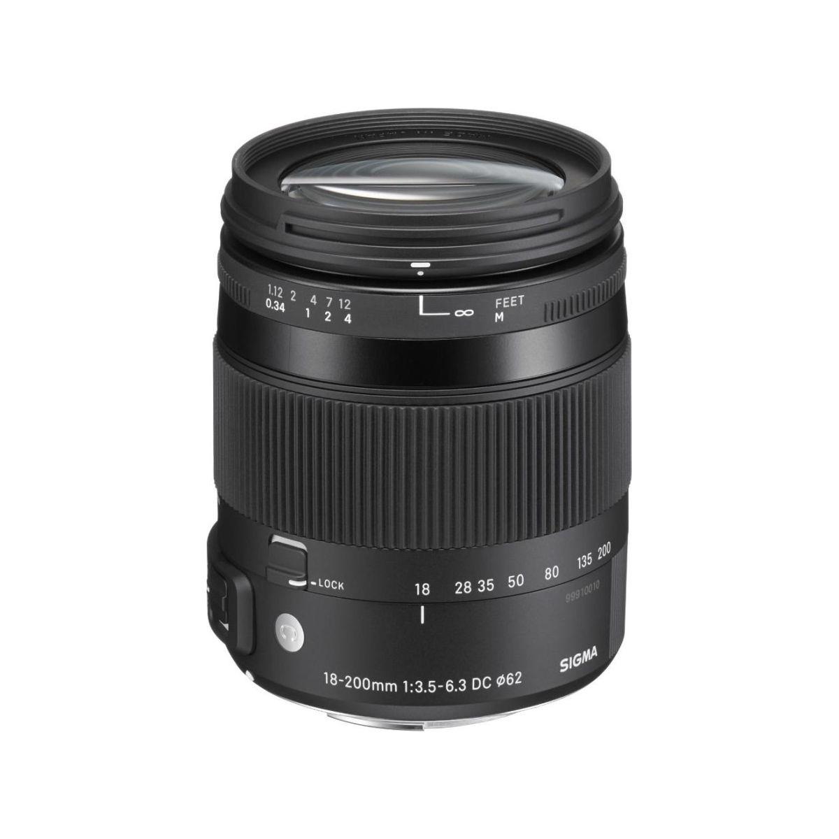 Objectif pour Reflex SIGMA 18-200mm f/3.5-6.3 Macro DC OS HSM ...