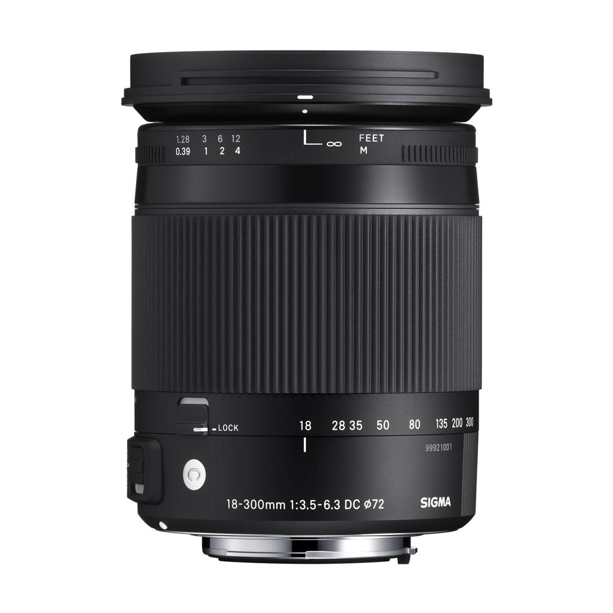 Objectif pour Reflex SIGMA 18-300mm f/3.5-6.3 Macro DC HSM Pen...