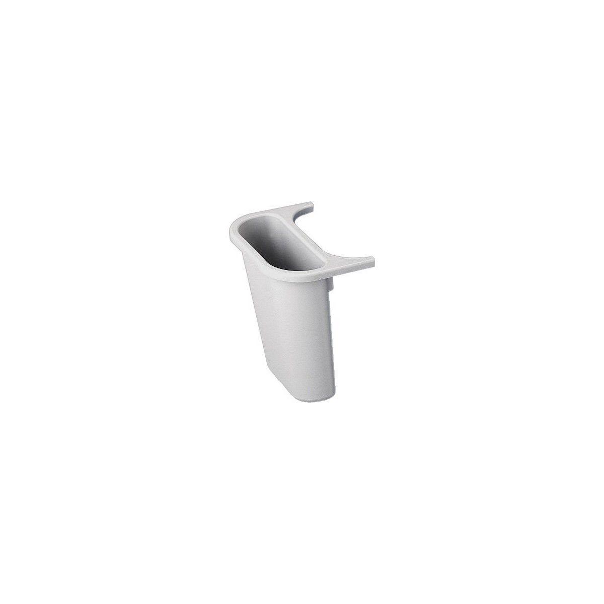 Poubelle manuelle NEWELL RUBBERMAID bac gris 4.5l pr corbeille tri (photo)