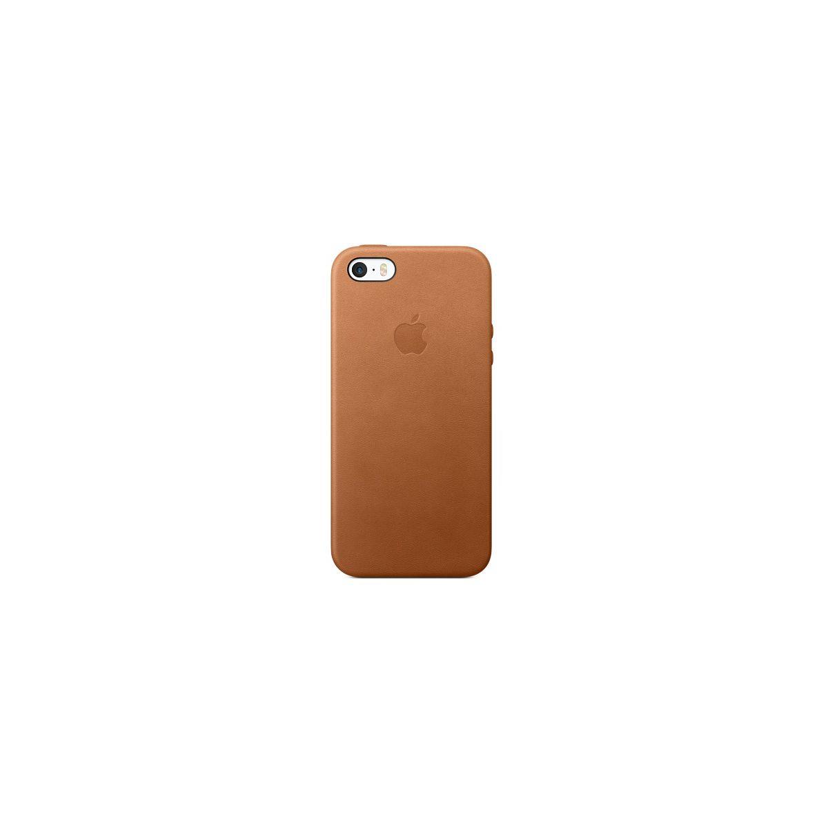 Coque APPLE iPhone SE cuir Havane (photo)
