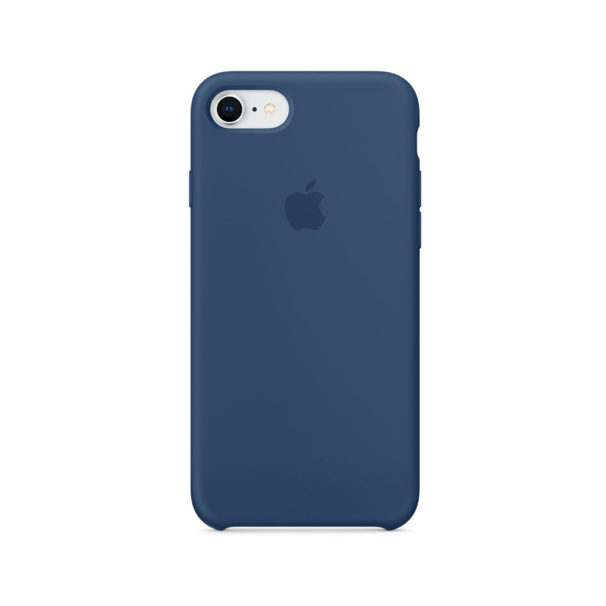 Coque APPLE iPhone 7/8 silicone bleu (photo)