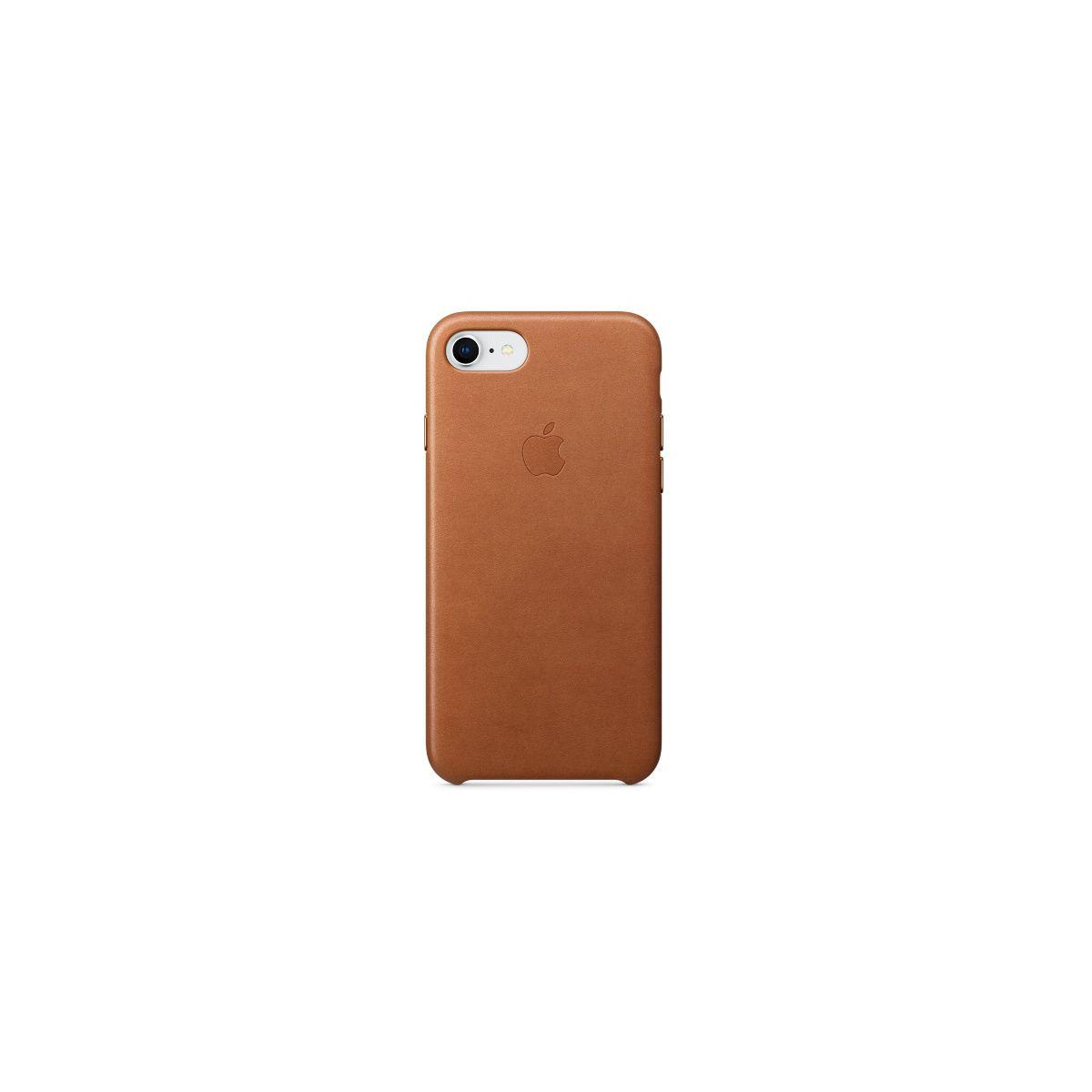 Coque APPLE iPhone 7/8 cuir havane (photo)