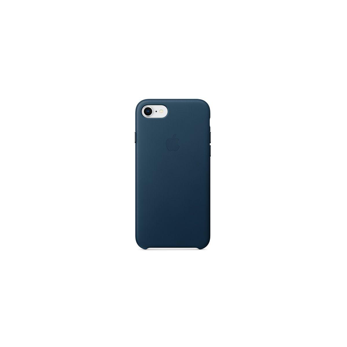 Coque APPLE iPhone 7/8 cuir bleu (photo)