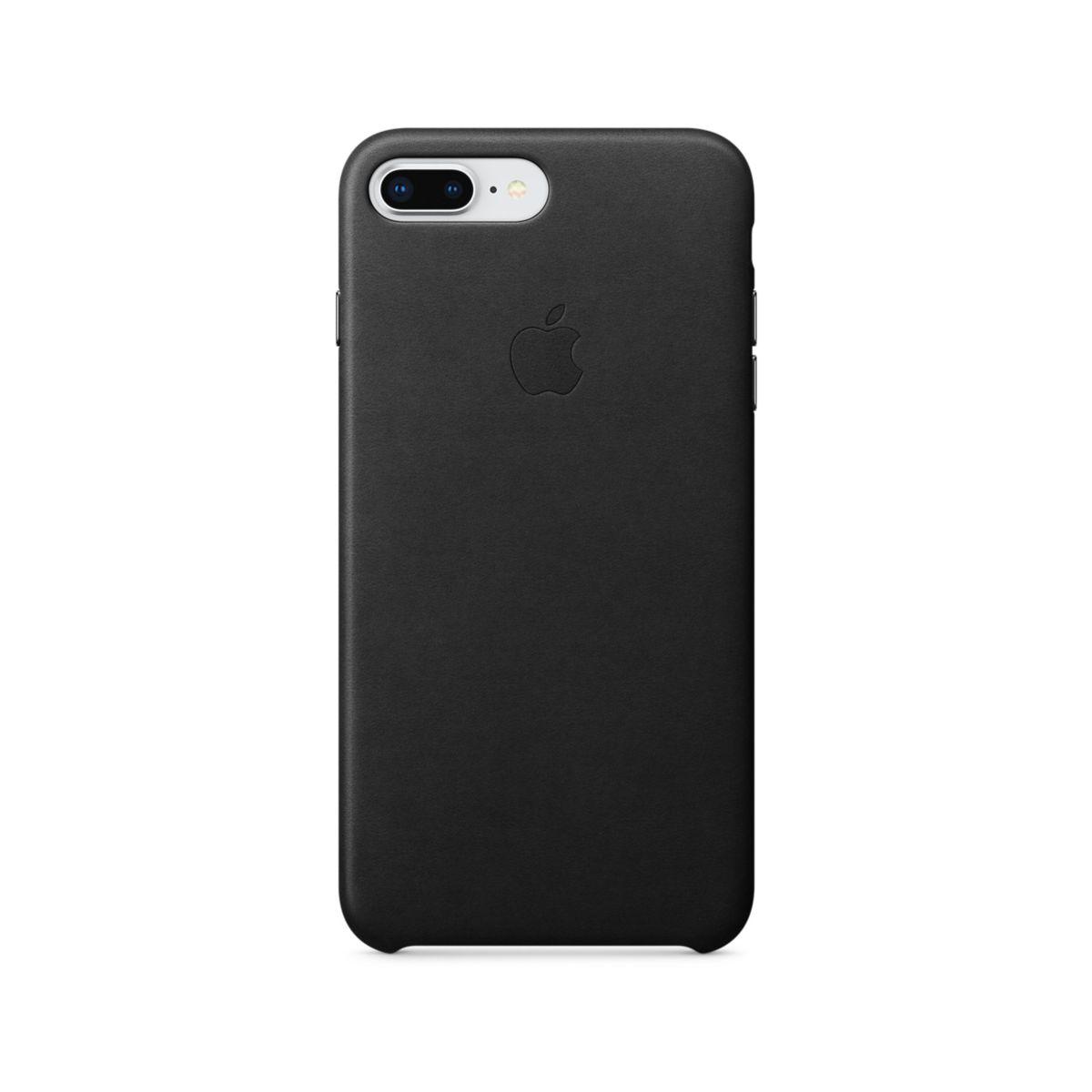 Coque APPLE iPhone 7/8 Plus cuir noir (photo)