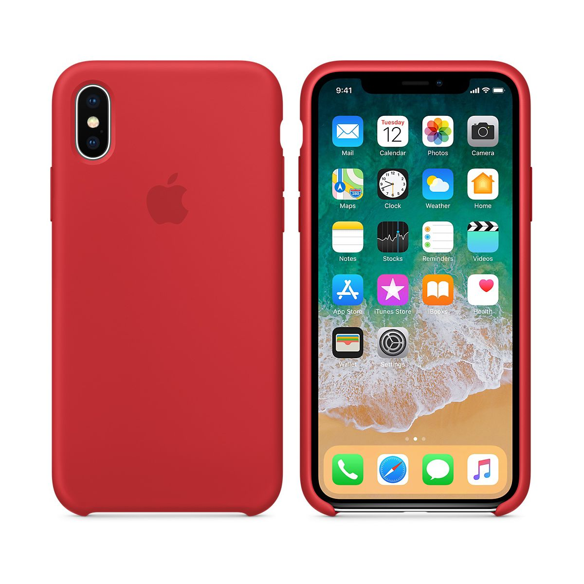 Coque APPLE iPhone X (PRODUCT) RED (photo)