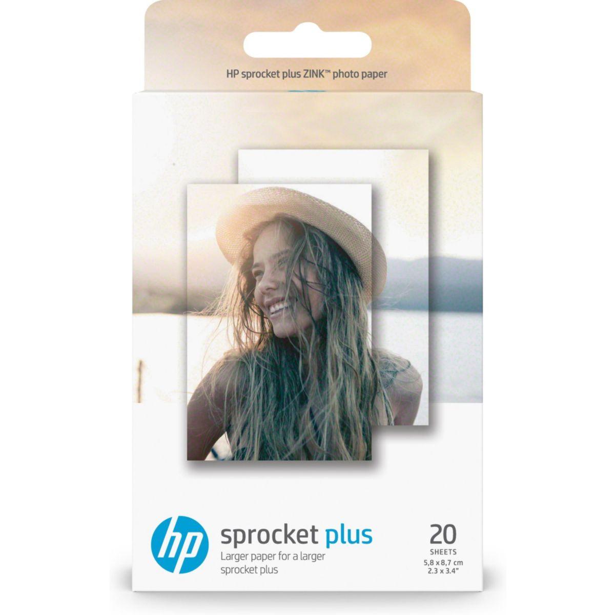 Papier photo HP 20 feuilles ZINK pour Sprocket Plus