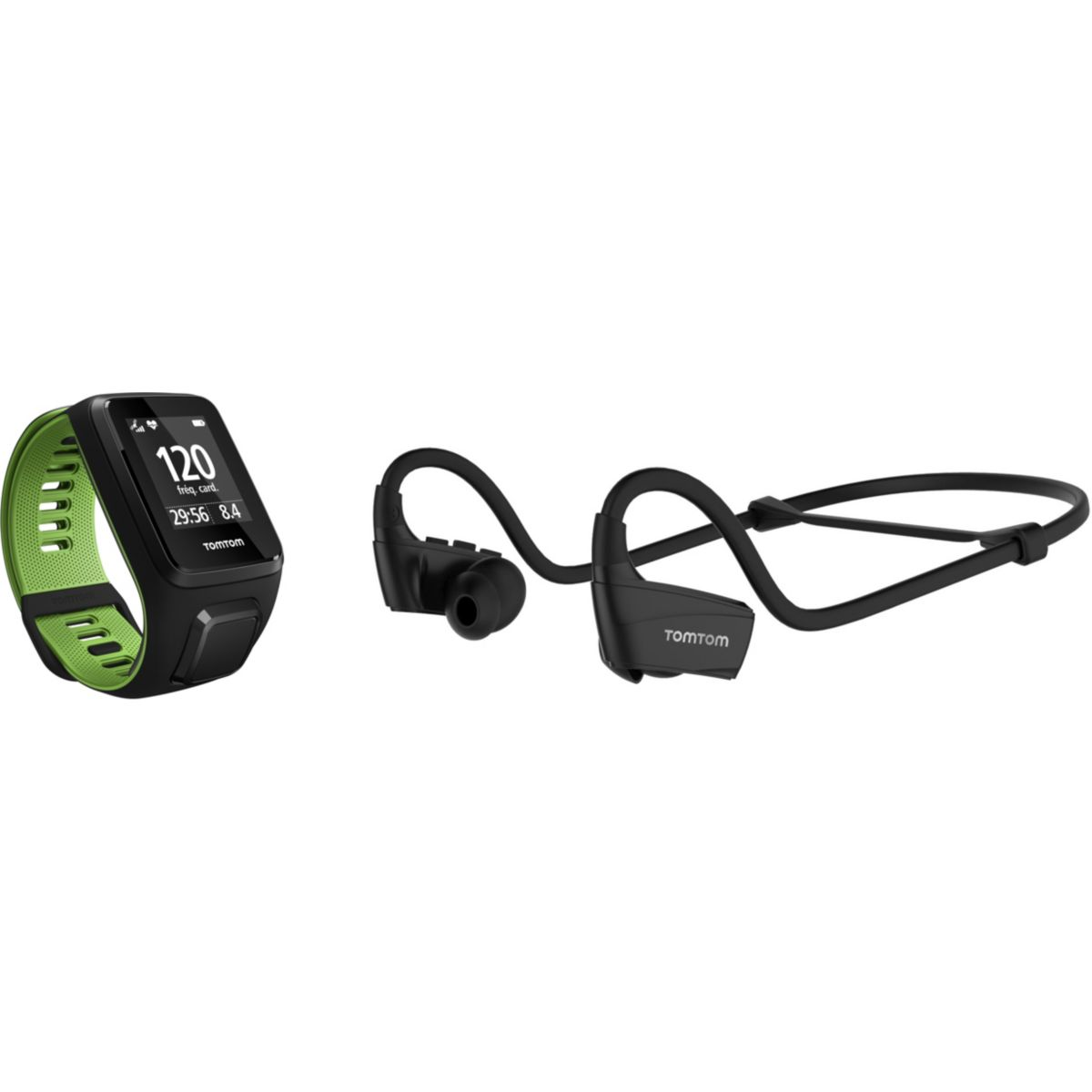 Montre sport GPS TOMTOM OUTDOOR Runner 3 Cardio+Music+Casque N...