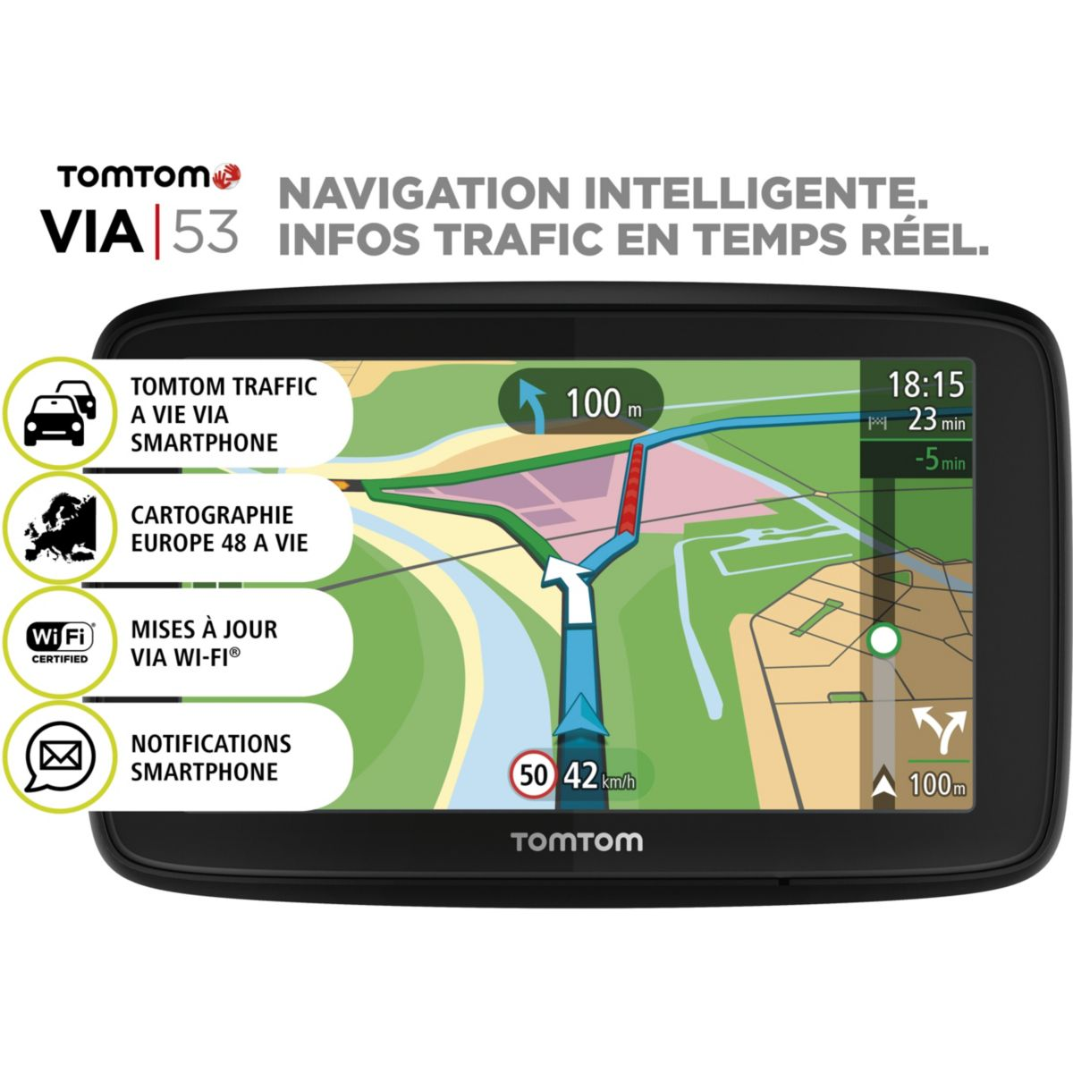 GPS TOMTOM VIA 53 Europe 48 pays
