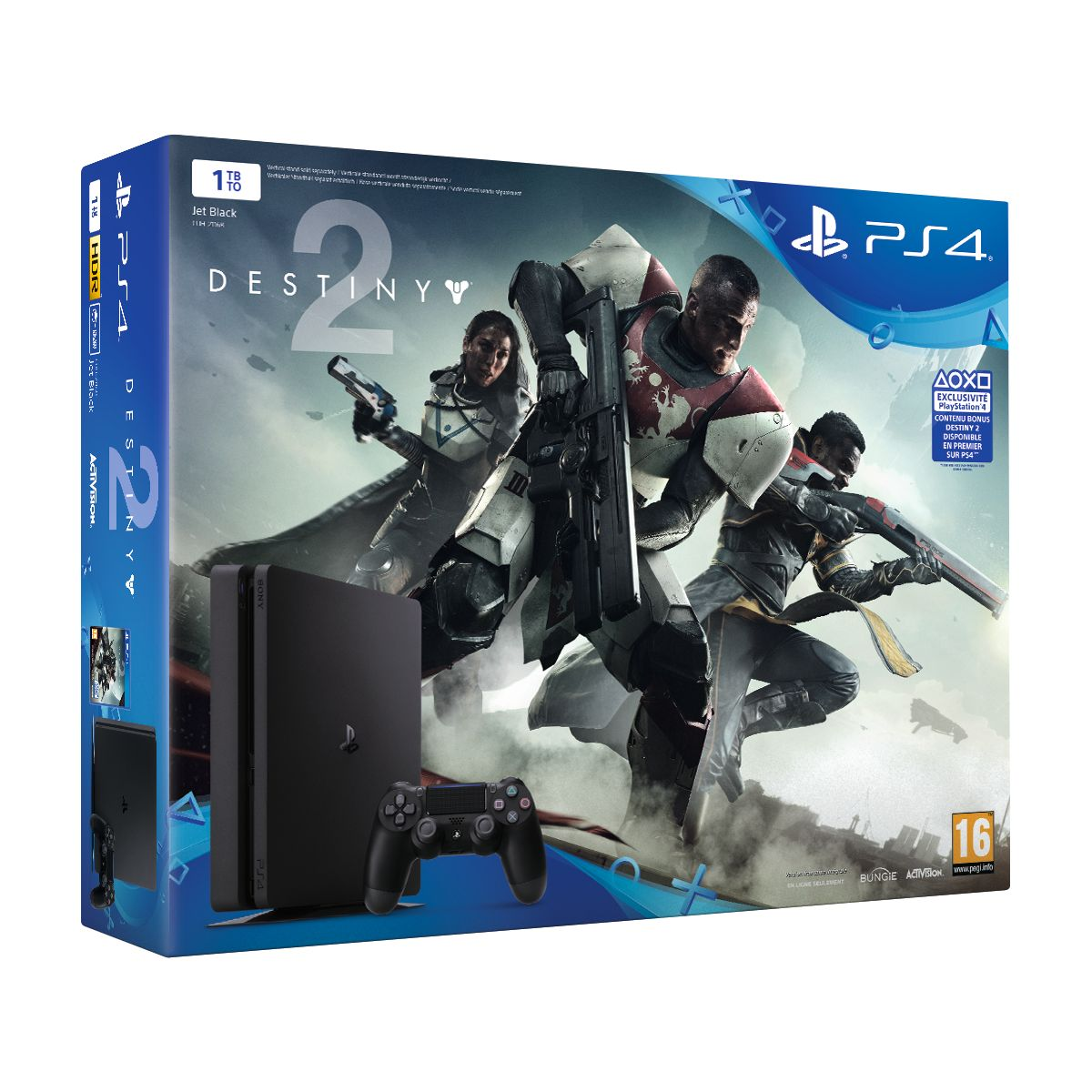 Console SONY Pack PS4 1 To Black + Desti