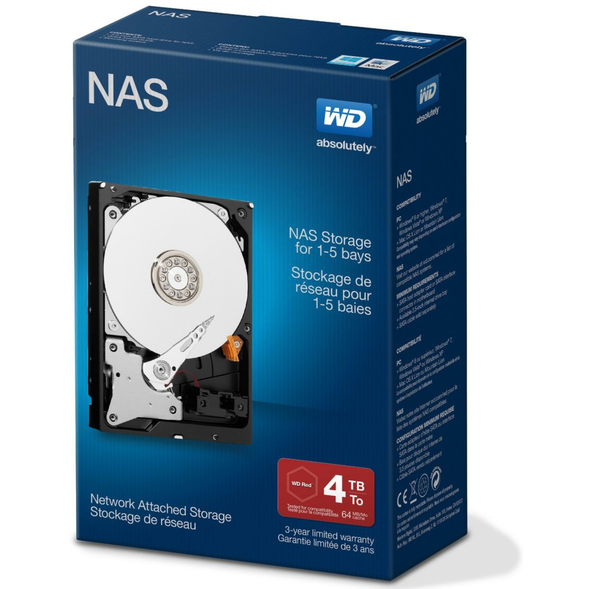 Disque dur interne WESTERN DIGITAL int 3.5'' 4To NAS...