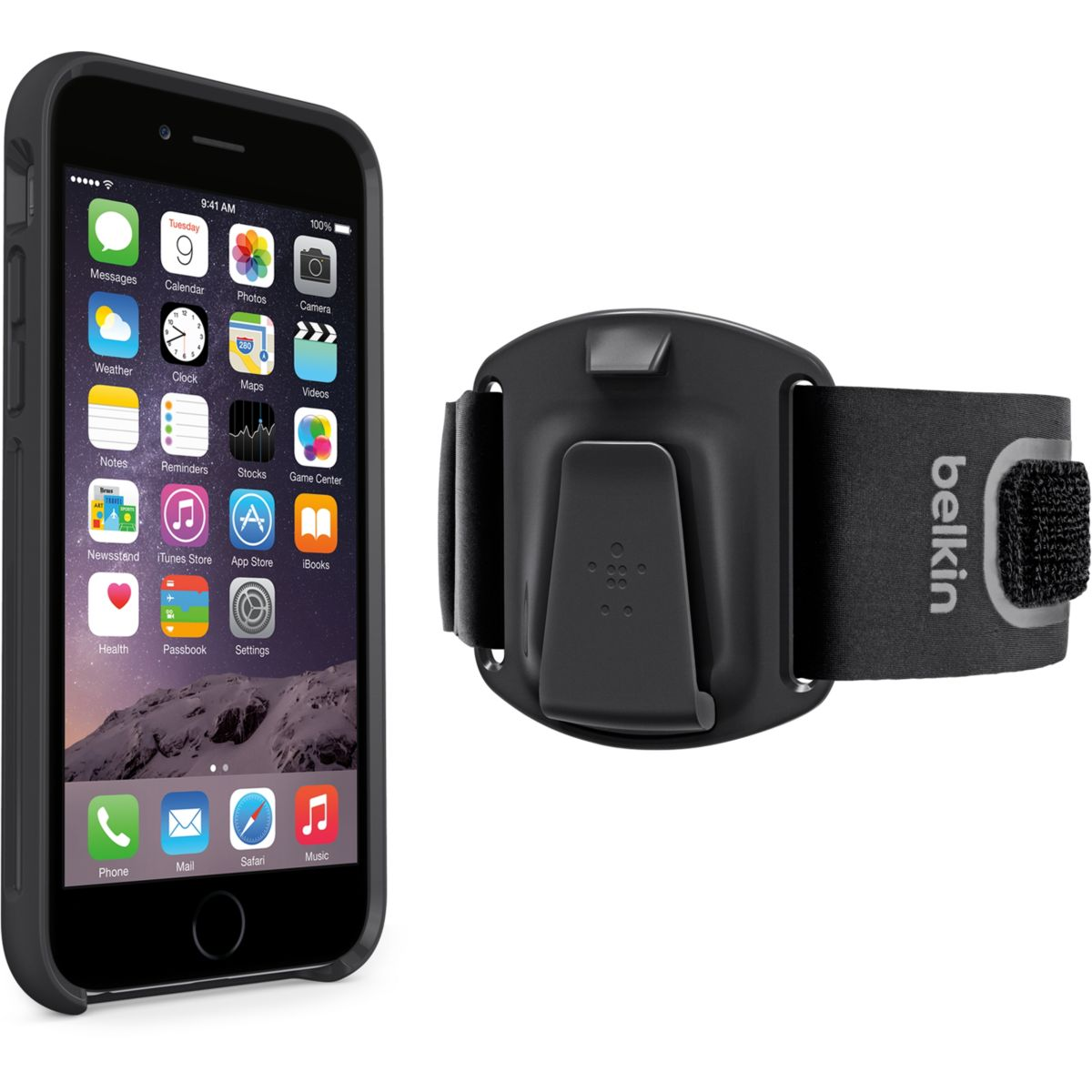 Brassard BELKIN iPhone 6/6s clip fit (photo)