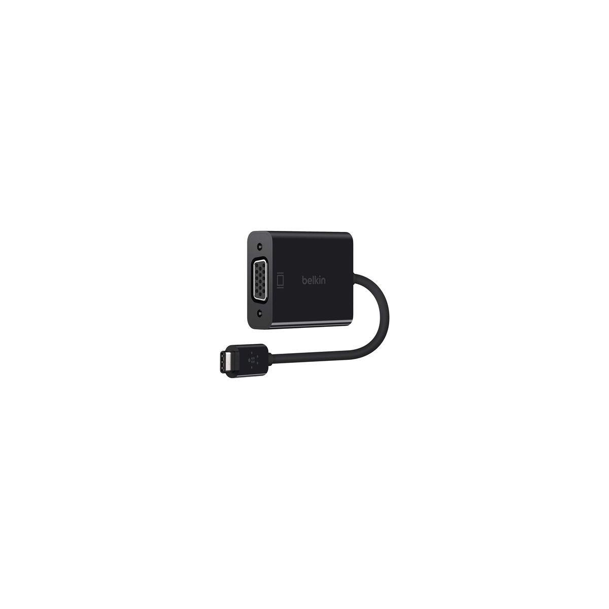 Adaptateur VGA BELKIN Adaptateur USB-C / VGA - Noir (photo)