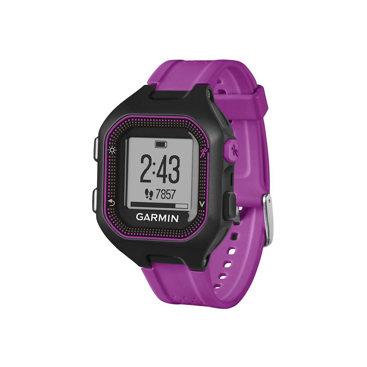 Montre GPS GARMIN Forerunner 25 Noir et violet Small