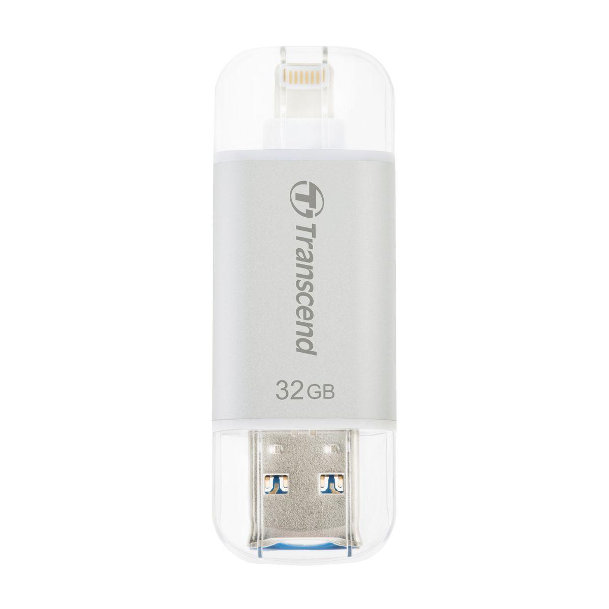 Clé USB TRANSCEND JetDrive GO 300S 32Go Silver lightning
