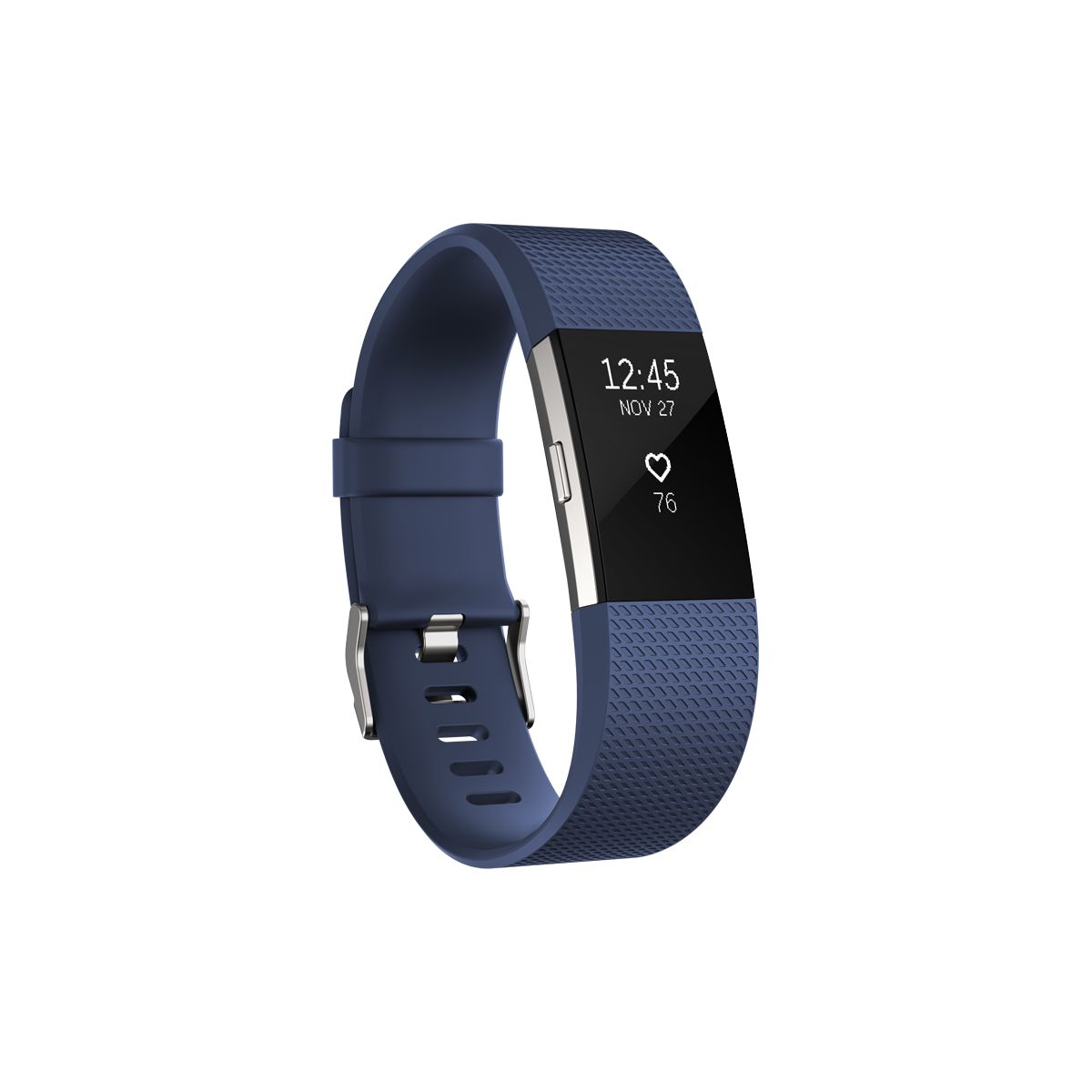 Bracelet connecté FITBIT Charge 2 Blue Silver L
