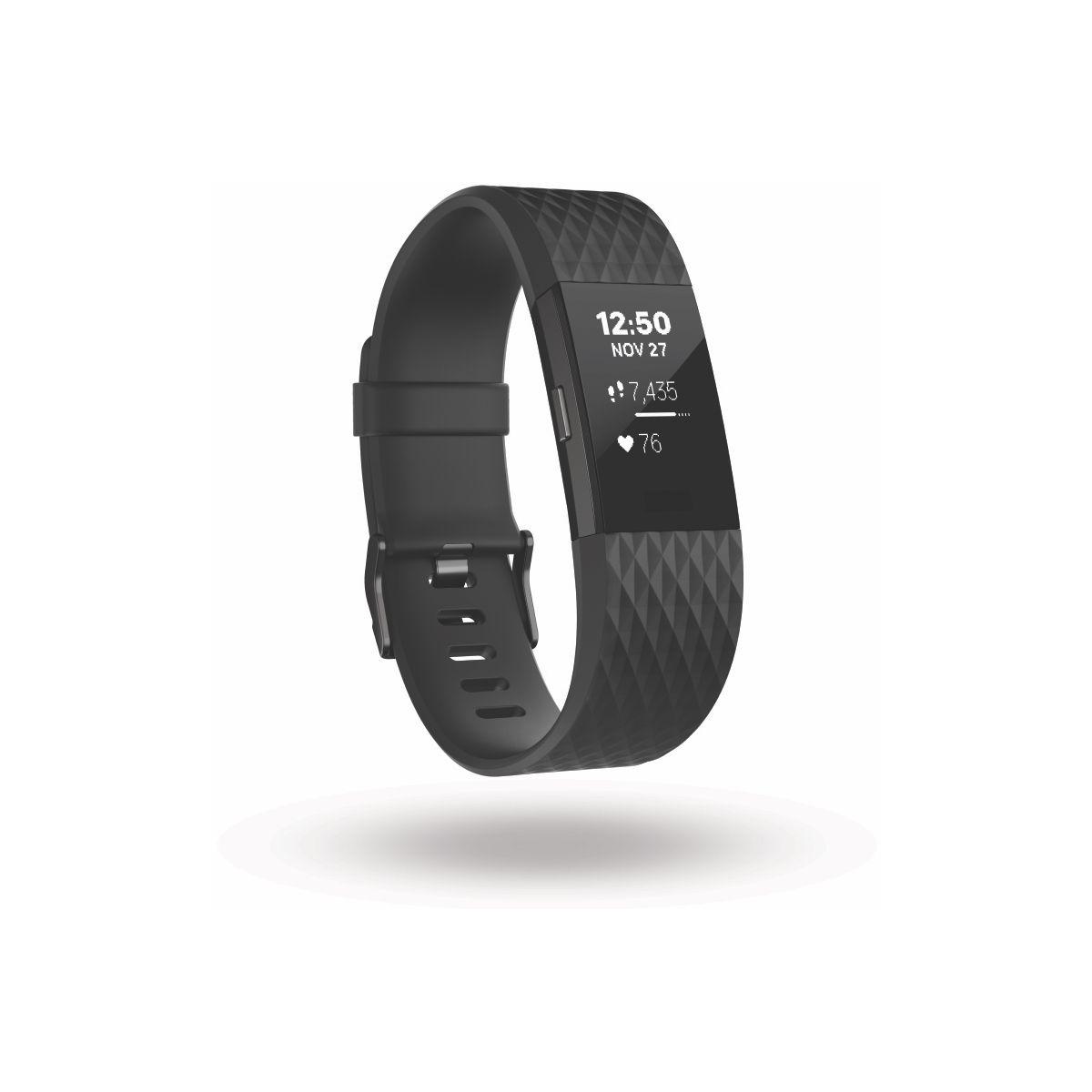 Bracelet connecté FITBIT Charge 2 Black Gunmetal L