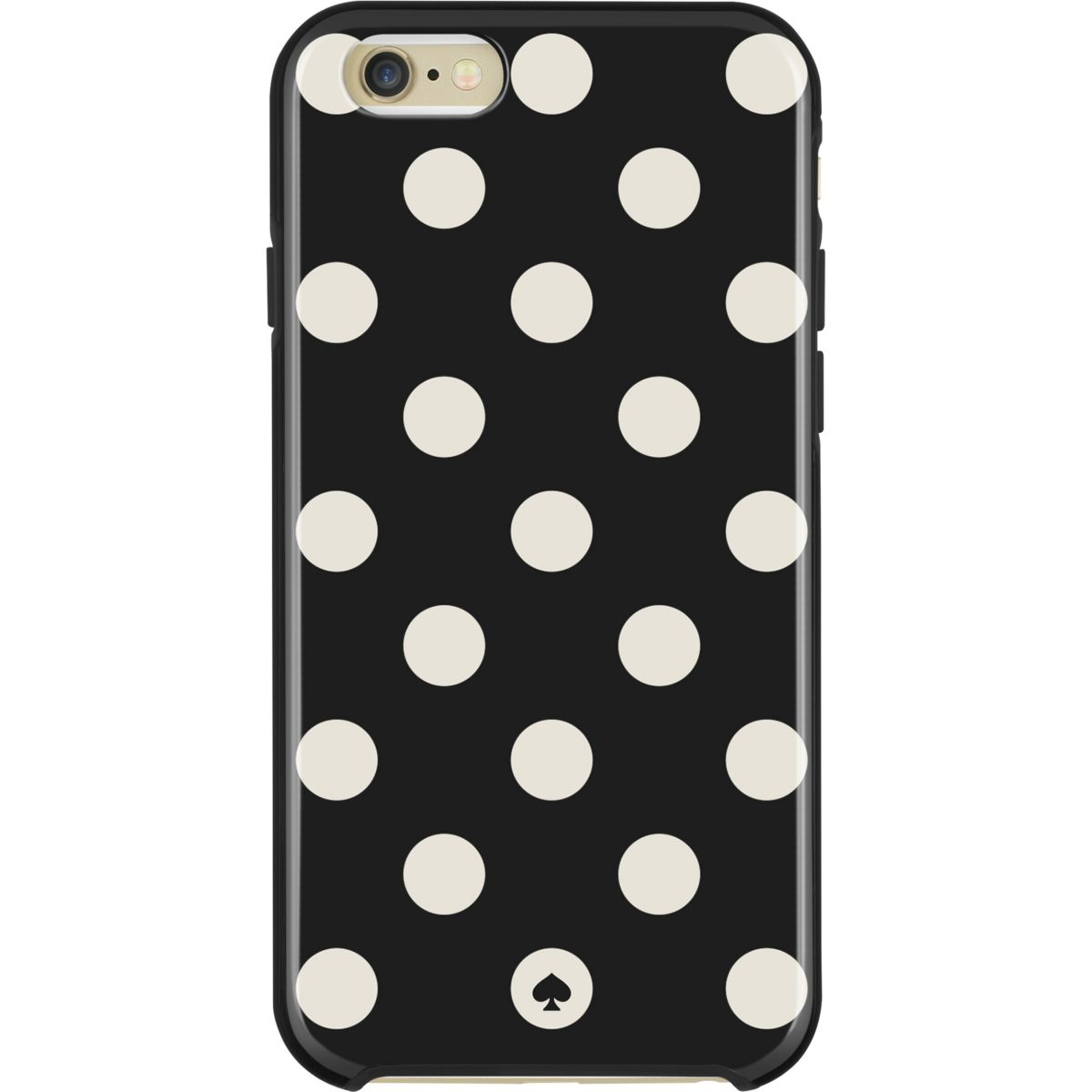 Coque KATE SPADE iPhone 6/6S dot noir